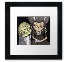 Frank and his Bride Framed Print