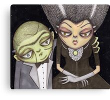 Frank and his Bride Canvas Print