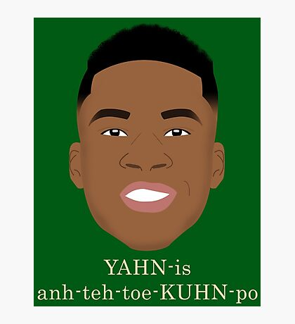 Giannis Pronunciation Photographic Print