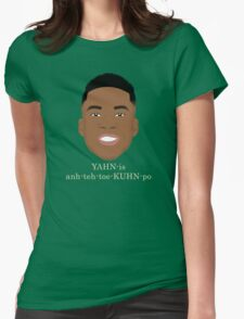 Giannis Pronunciation Womens Fitted T-Shirt