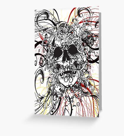 Skull Rush Greeting Card