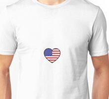 American Flag Heart Unisex T-Shirt