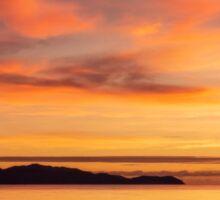 Magnetic Island in Silhouette.  Queensland, Australia.  Sticker