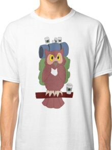 Hitchhiking Caffeinated Owl Classic T-Shirt