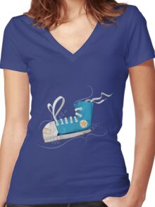 Keep Swimming Women's Fitted V-Neck T-Shirt
