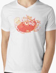 Japanese Red Carp Mens V-Neck T-Shirt