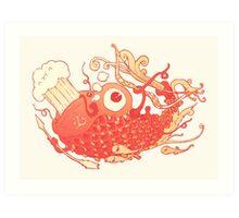 Japanese Red Carp Art Print