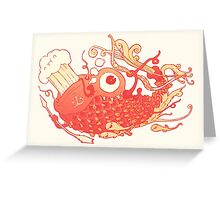 Japanese Red Carp Greeting Card