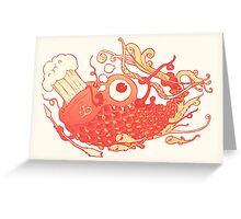 Japanese Red Carp Greeting Card
