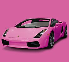 Pink Lamborghini by David Rodriguez Studio