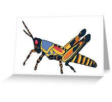 Surreal Grasshopper Greeting Card