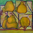 Pears in Squares by Karen Gingell