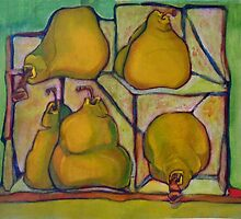 Pears in Squares by Kargin