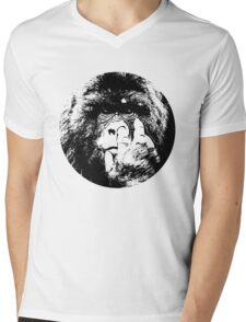 King kong monkey pick nose sticker t-shirt Mens V-Neck T-Shirt