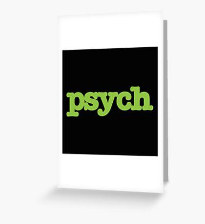 Psych Design Greeting Card