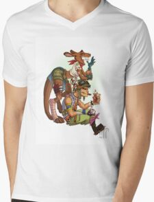 Tank boy and Boogy Mens V-Neck T-Shirt