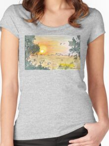 Sunrise over No. 84 Women's Fitted Scoop T-Shirt