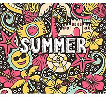 Summer Doodle Photographic Print