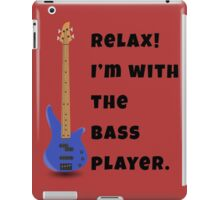 I'm With The Bass Player (Hers) iPad Case/Skin