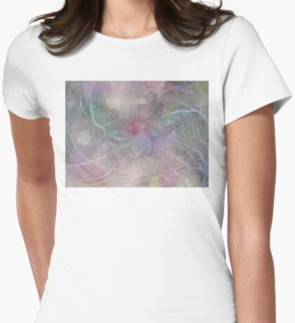Pastel Web Womens Fitted T-Shirt