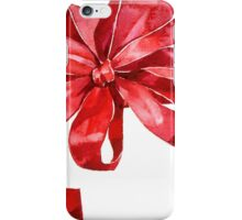 Red bow iPhone Case/Skin