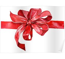 Red bow Poster