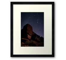 Stone Above, Stars Below Framed Print