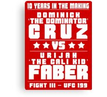 Cruz vs Faber III Canvas Print