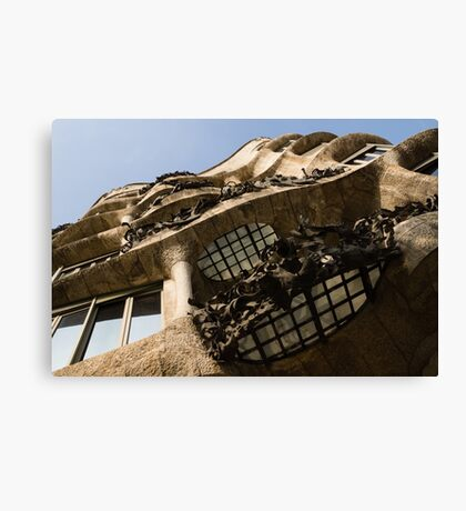 Wrought Iron, Glass and Stone Plus a Genius Imagination Canvas Print
