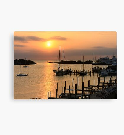 When the Sun Breaks Through ~ Gold Canvas Print