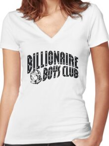 bbc black Women's Fitted V-Neck T-Shirt
