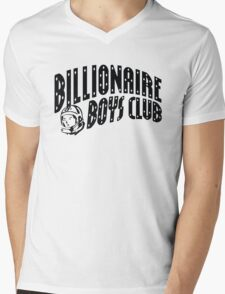 bbc black Mens V-Neck T-Shirt
