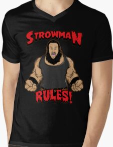 Strowman WWE Rules Mens V-Neck T-Shirt