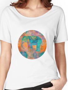 Elephant Pattern Women's Relaxed Fit T-Shirt