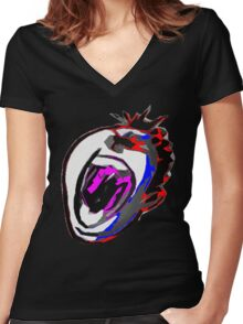Scream It Out! Women's Fitted V-Neck T-Shirt