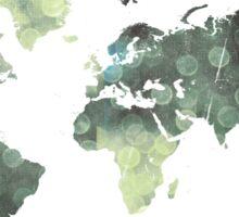 Bokeh world map Sticker