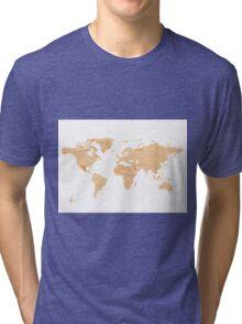 Paper world map Tri-blend T-Shirt