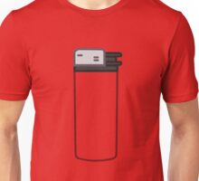 Lighter with a transparent body Unisex T-Shirt