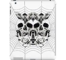 Skull-3 Skull- Spider Web iPad Case/Skin