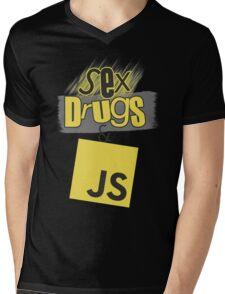 Sex, drugs and JavaScript Mens V-Neck T-Shirt