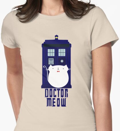 doctor meow Womens Fitted T-Shirt