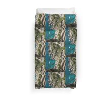 Long and Twisted Walk to the Shore - Azure Magic of Capri Duvet Cover