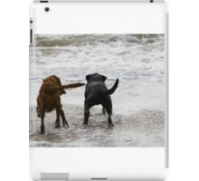 Two dogs paddling  iPad Case/Skin