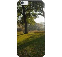 Sunshine over Abbey Park and the River Aire iPhone Case/Skin