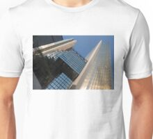 Gold, Black and Blue Geometry - Royal Bank Plaza Unisex T-Shirt
