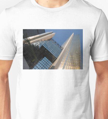 Gold, Black and Blue Geometry - Royal Bank Plaza Unisex T-Shirt