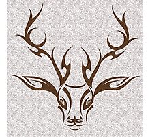Tribal Stag Photographic Print