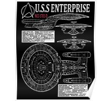 PICARDS ENTERPRISE NCC1701D  Poster