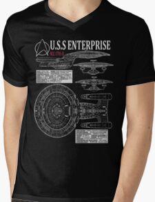 PICARDS ENTERPRISE NCC1701D  Mens V-Neck T-Shirt