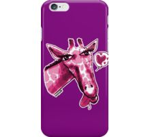 cartoon style lovely giraffe purple iPhone Case/Skin